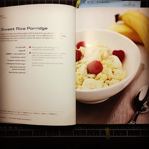 Sweet rice porridge hit the spot this morning