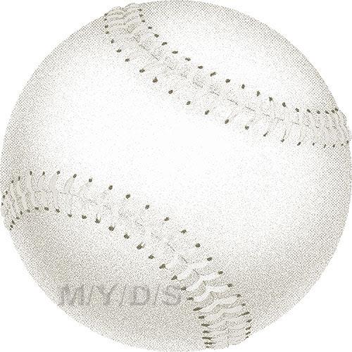 ソフトボールの球のイラスト条件付フリー素材集