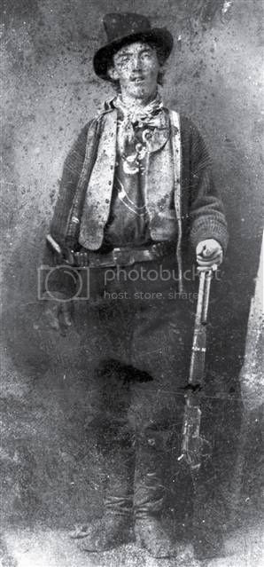 billy the kid dead photo. tattoo hair shot Billy the Kid