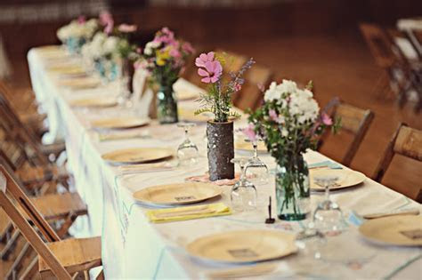 cheap diy wedding reception ideas   Once Wed