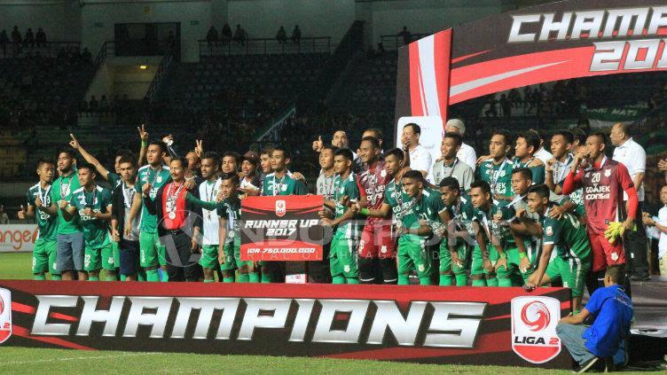 PSMS Medan meraih gelar runner-up. Copyright: INDOSPORT/Arif Rahman