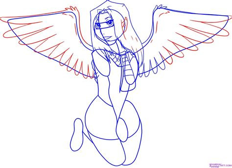 draw anime angel wings   world