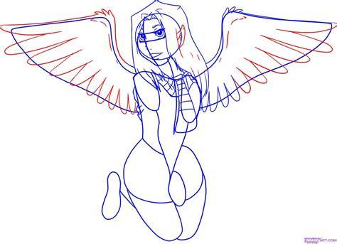 draw anime angel wings   world