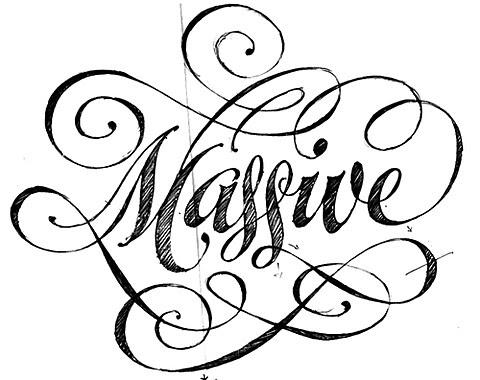 typography, calligraphy, font, hand drawn, black and white, handwriting, sketch, design, graphic design via FFFFOUND