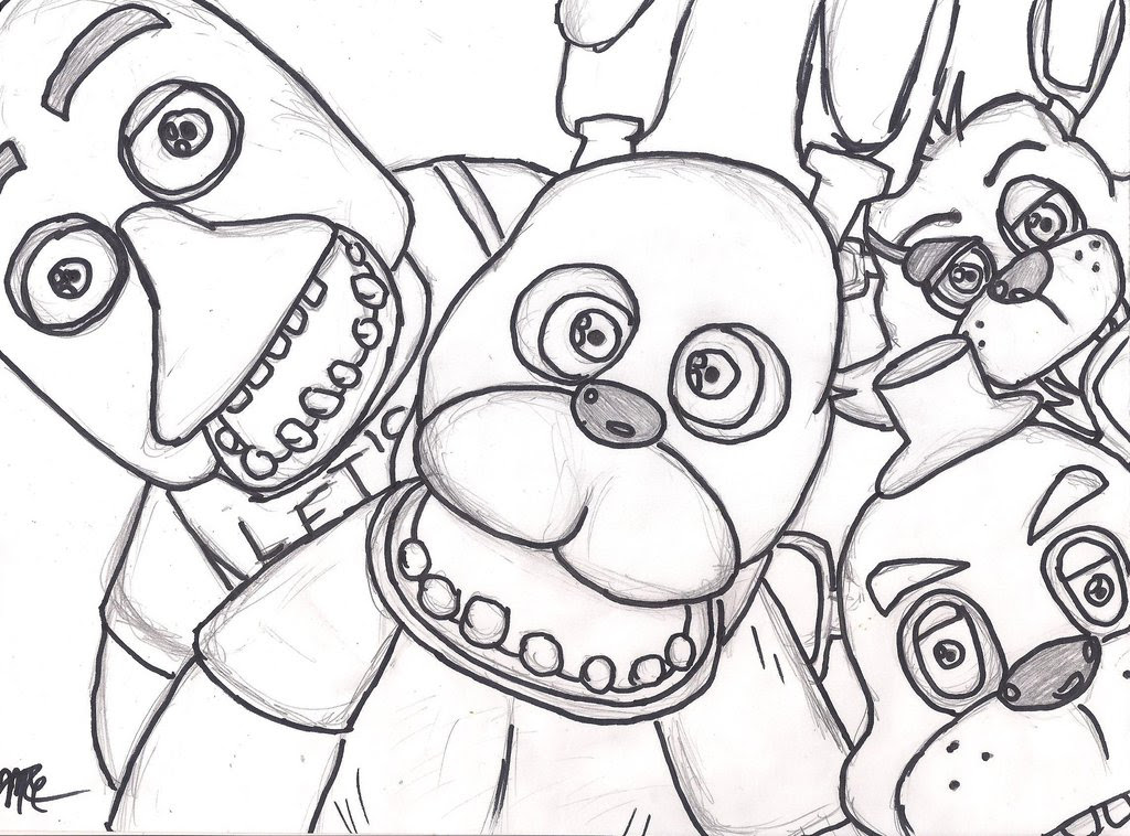 Fnaf 4 Drawing At Getdrawingscom Free For Personal Use Fnaf 4
