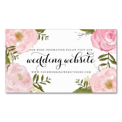 Modern Vintage Pink Floral Wedding Website Card   Zazzle