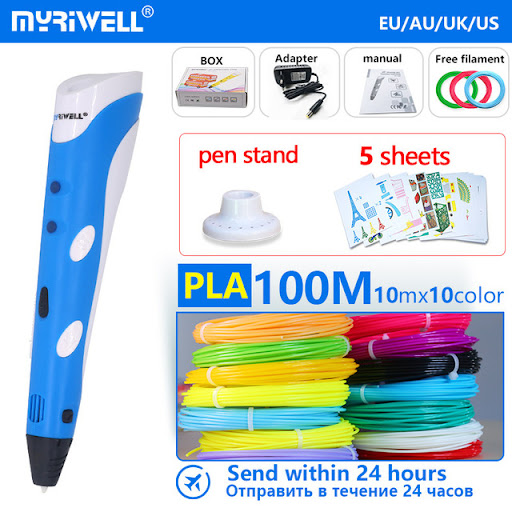 DIY 3D Printing Pen LCD ScreenLow Temperature Craft Tool with PCL Filament