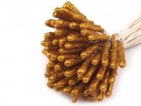Pręciki z brokatem złote