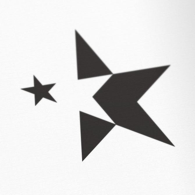 Blue star logo design Vector   Free Download