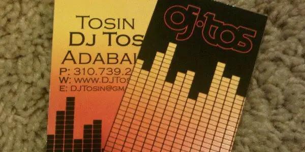 DJ Tos Business Card & Logo Design