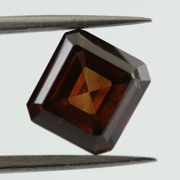 Fancy Deep Orange Brown Diamond, Radiant, 2.04 carat