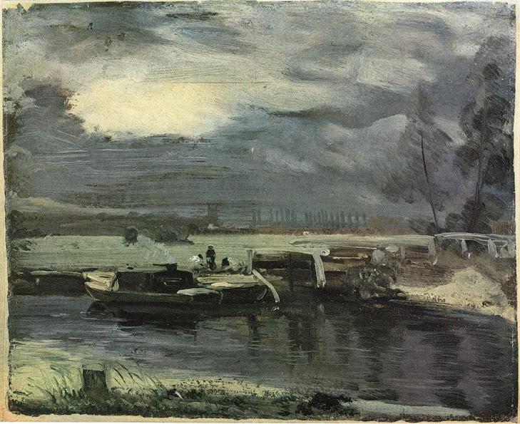 Constable, Kähne auf dem Stour