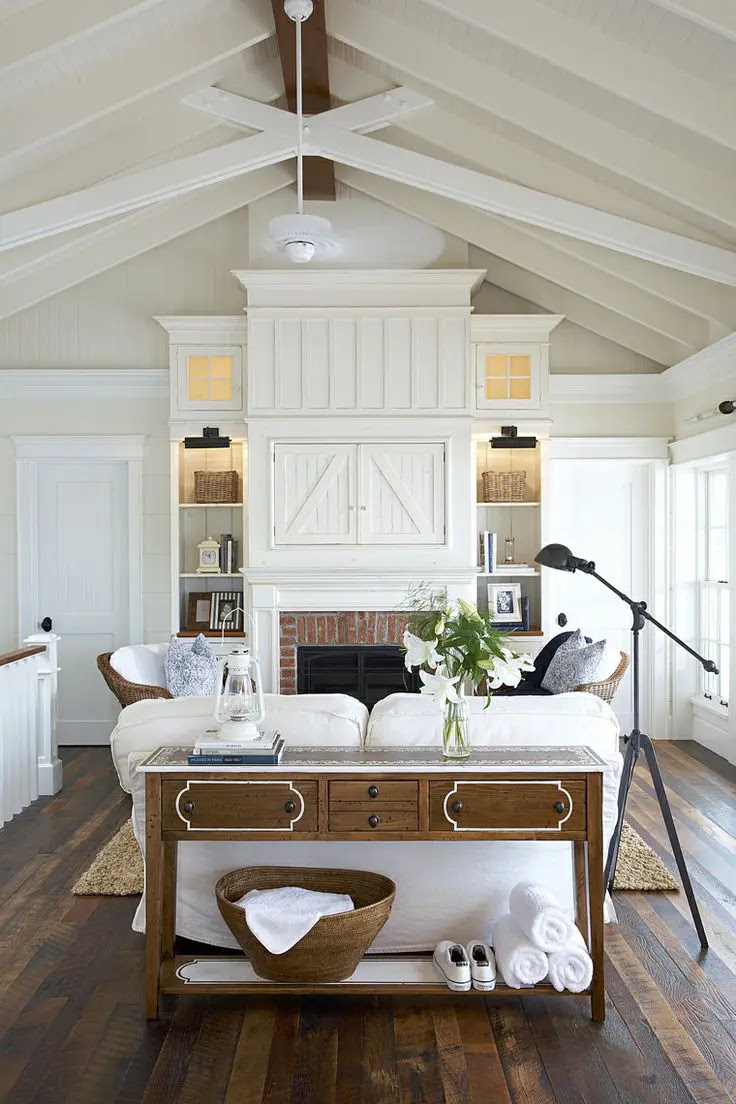 27 Comfy Farmhouse Living Room Designs To Steal | DigsDigs