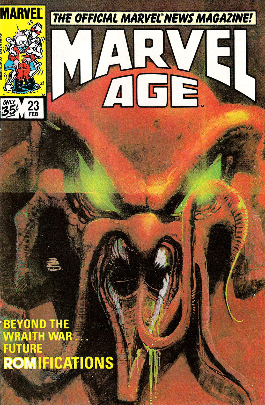 Bill Sienkiewicz - Marvel Age #23, February 1985