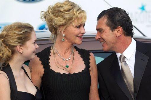 Antonio Banderas con su mujer Melanie Griffith y su hija Stella del Carmen