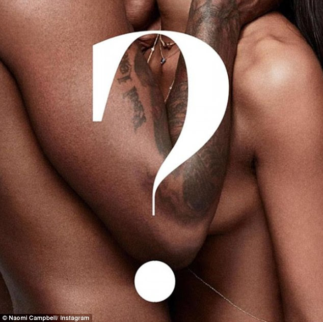 Cosy:Naomi Campbell sent fans wild as she posed alongside supposed beau Skepta as they posed together for British GQ's latest edition