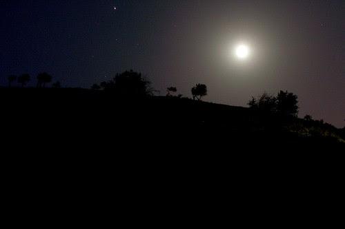 La Luna sobre el Barranco de Víznar