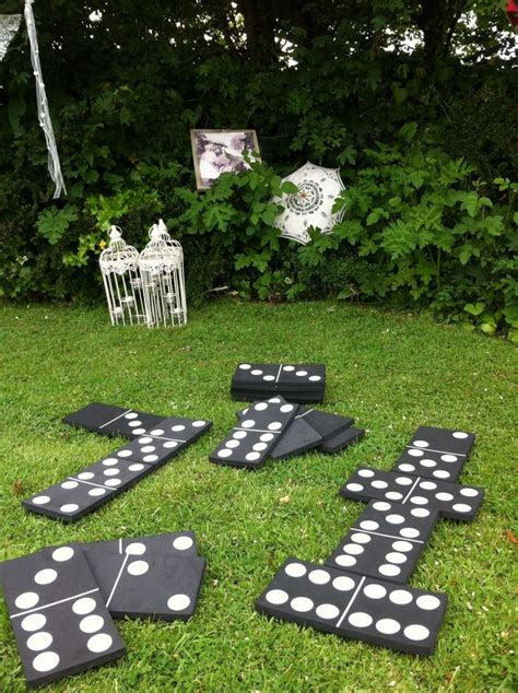 wedding lawn games giant dominoes wedding entertainment