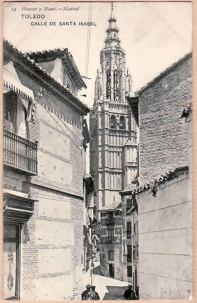 Calle de Santa Isabel a principios del siglo XX. Foto Hauser y Menet
