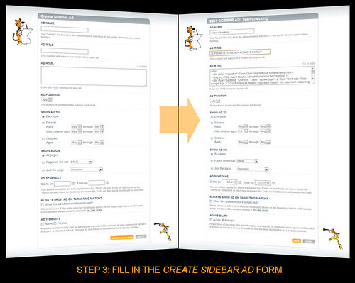 Step 3: Fill In The CREATE SIDEBAR AD Form