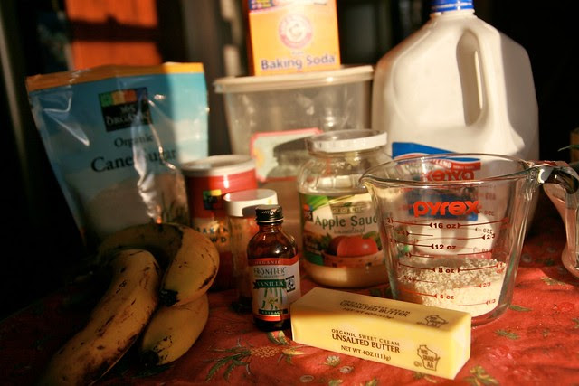 Organic Banana Coconut Pancakes ingredients