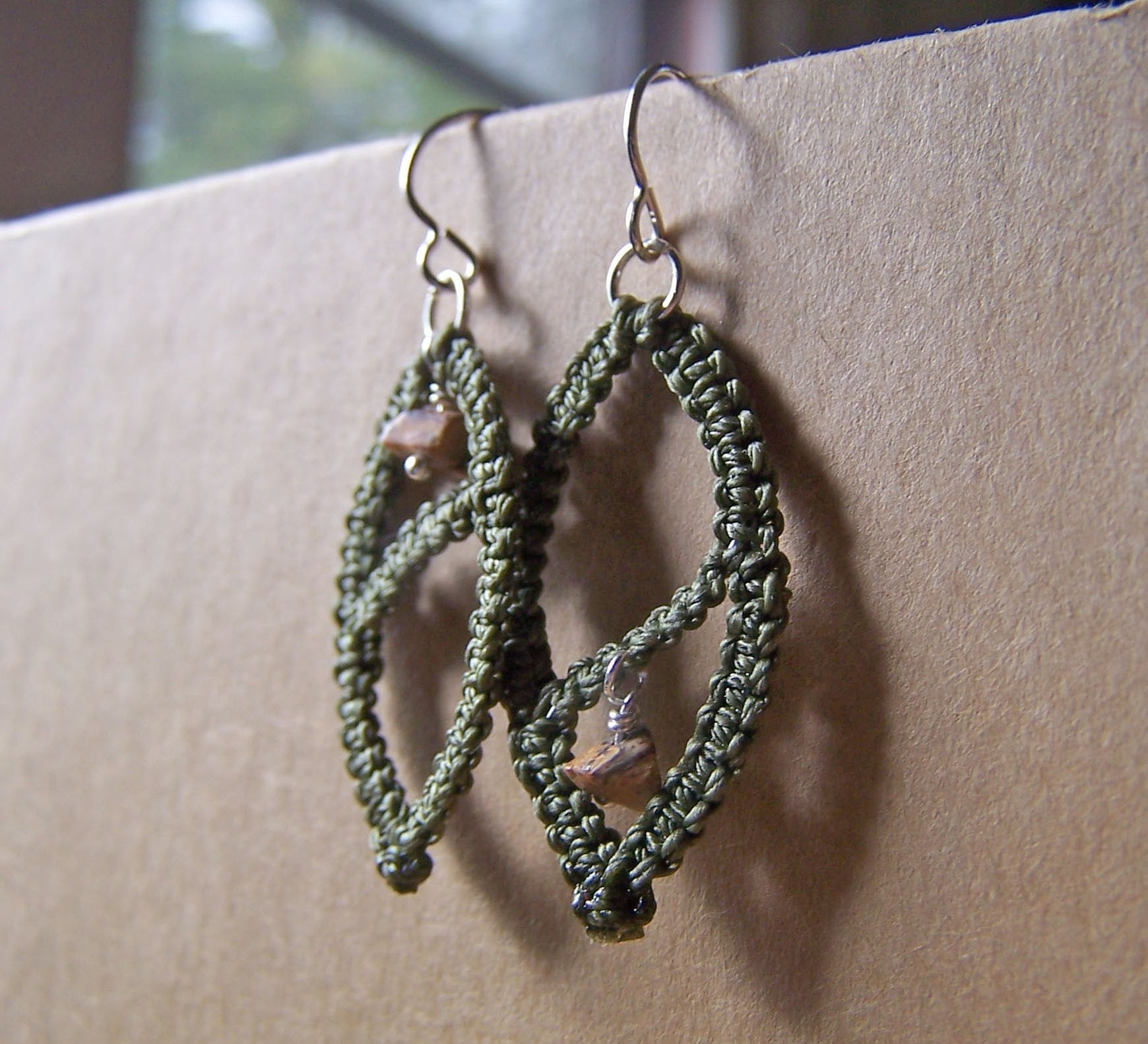 Curvature Demi Earrings in Olive