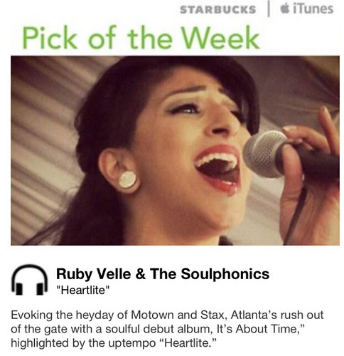 Starbucks iTunes Pick of the Week - Ruby Velle & The Soulphonics - Heartlite