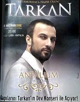 Tarkan Advert for Antalium Shopping Mall Show