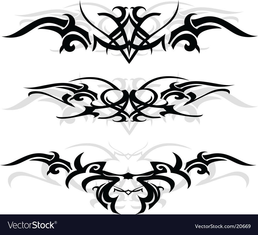 Tribal Tattoo Designs Vector. Artist: AKV; File type: Vector EPS