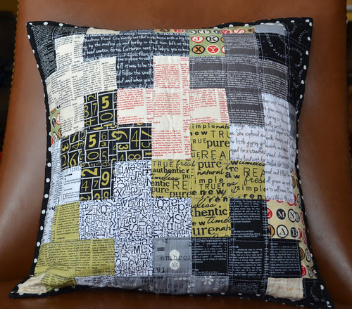 Positively texty - a pillow for me by Kirsten