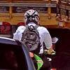 Motociclistas trafegam na marginal Tietê