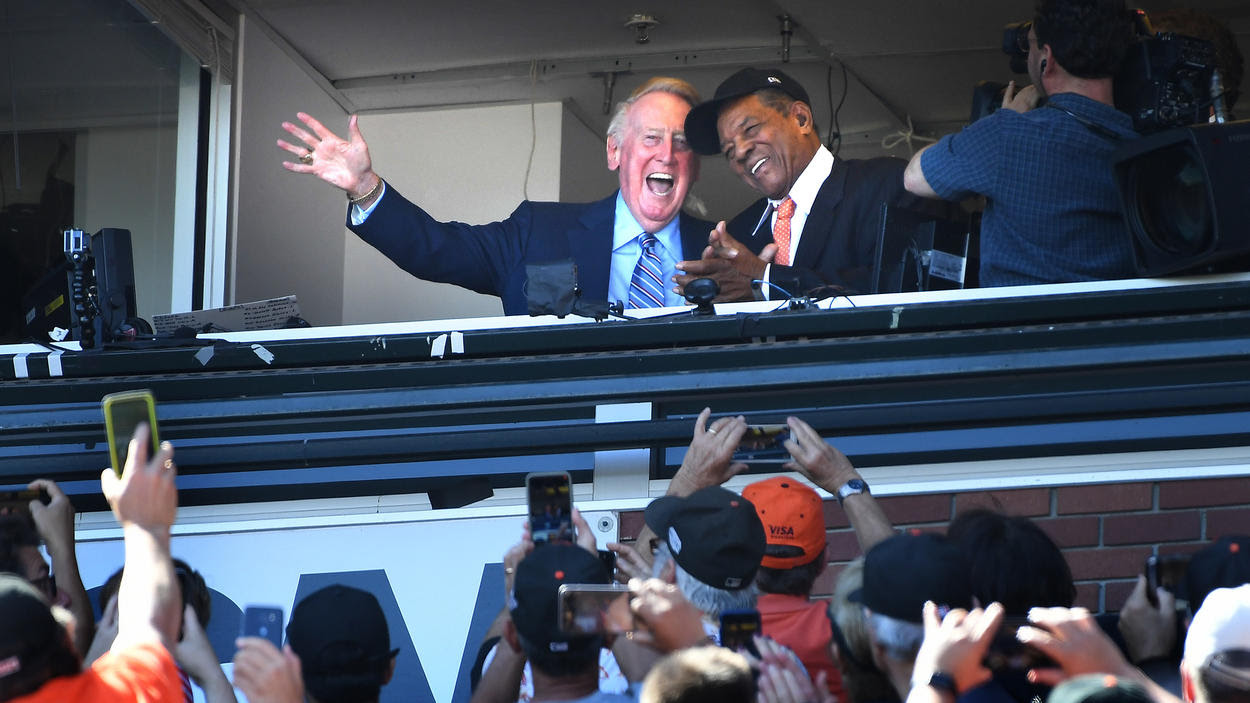 Vin Scully, Willie Mays