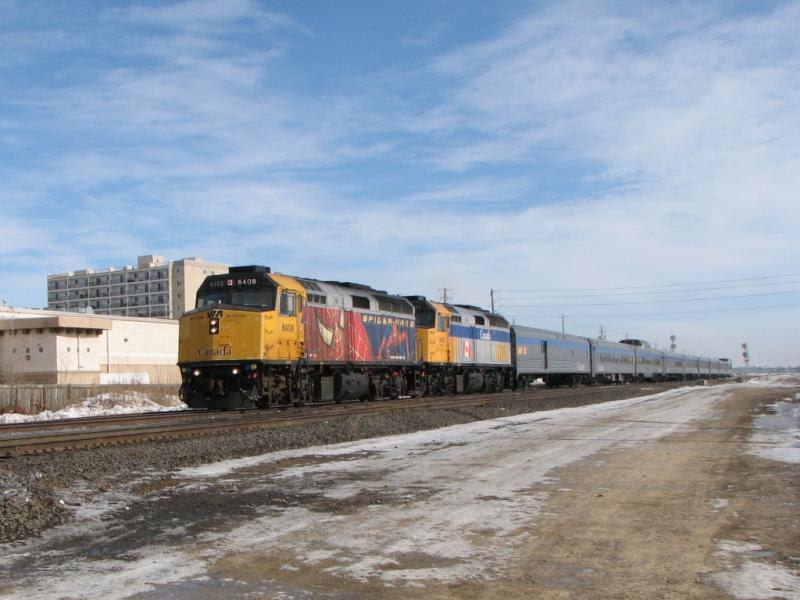 VIA 6408 in Winnipeg