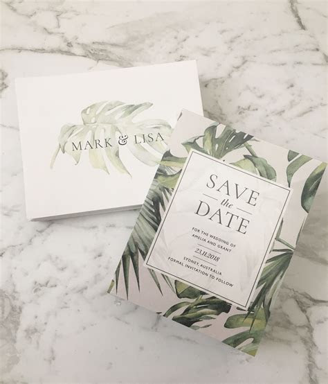 Save the Date   Printed Save the Date   Tropical
