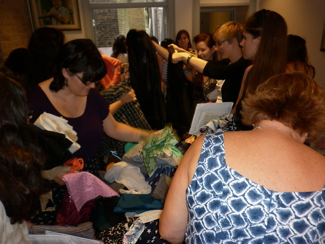 The fabric swapping table!