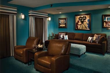 media room- love the color scheme | Movie Room Ideas | Pinterest