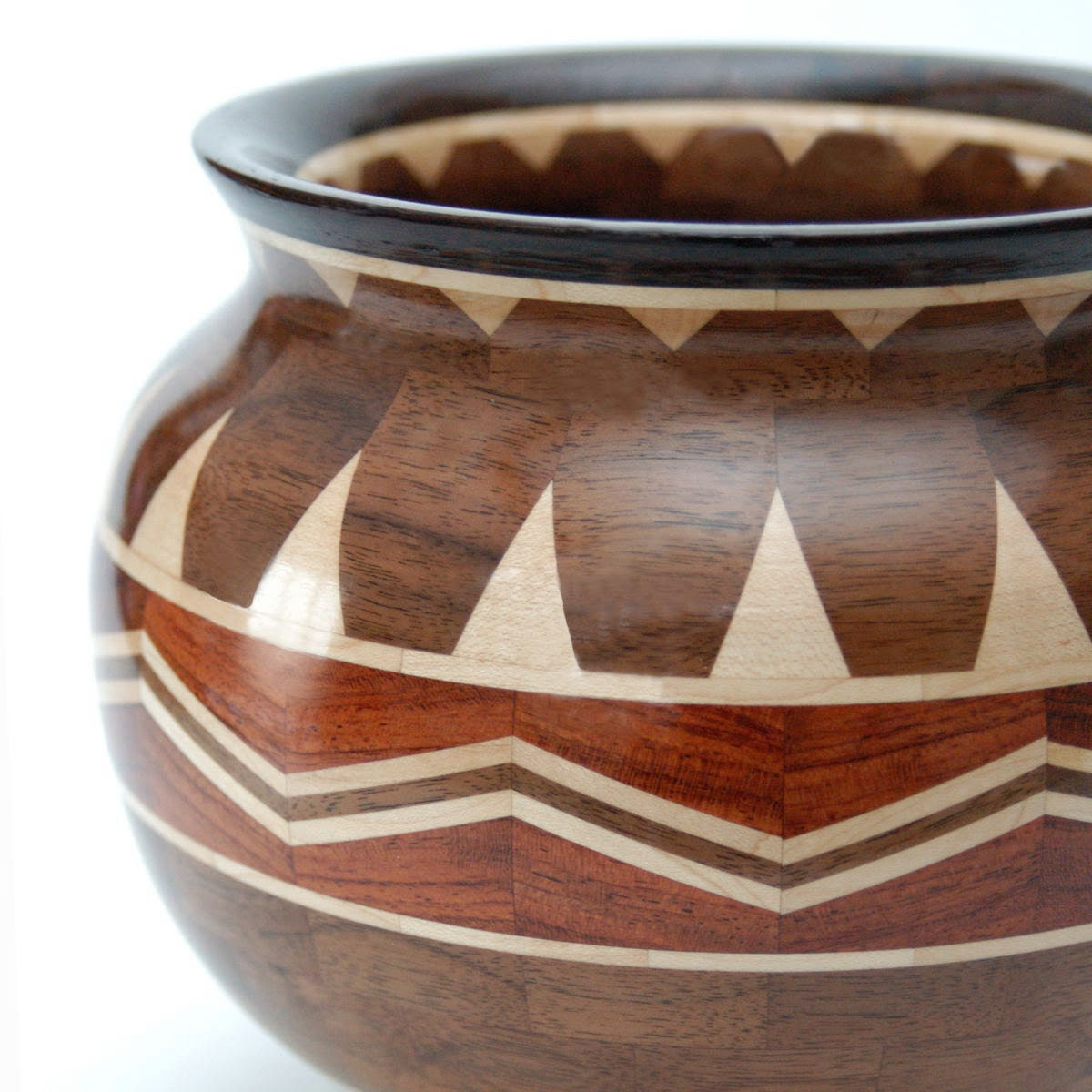 Charismatic Chai Segmented Bowl Featuring Bubinga, Maple, Oregon Black Walnut and Wenge Woods - fostersbeauties