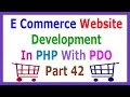 E Commerce Website Development In PHP With PDO Part 42 Creating Signup F...