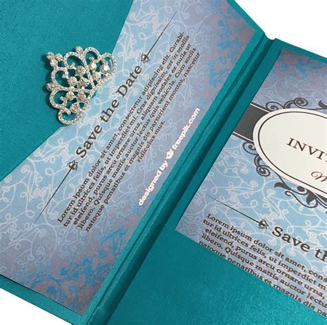 Light Teal Color Luxury Silk Pocket Fold Design For
