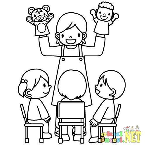 Meslek Axipixde öğretmenler Günü Boyama Sayfası