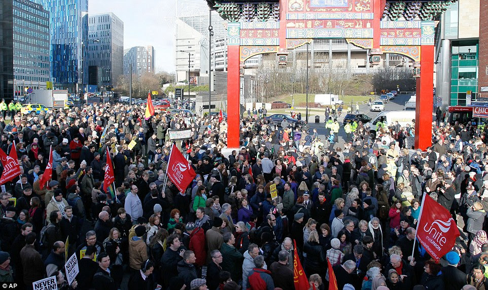 Their demonstration was met by a counter protest of around 2,000 people, who gathered for speeches in Newcastle city centre
