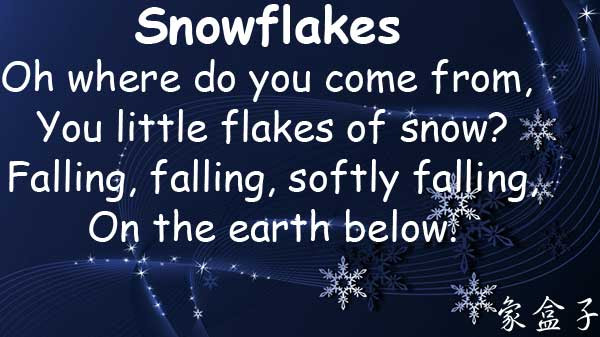 雪花 雪片 snowflakes