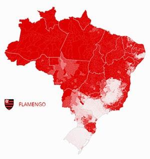 Mapa Flamengo (Foto: GloboEsporte.com)