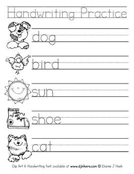 77+ Beginning Writing Worksheets For Kindergarten
