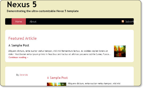 clean magazine blogger template