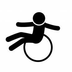 バランスボールに座るシルエット イラストの無料ダウンロードサイト