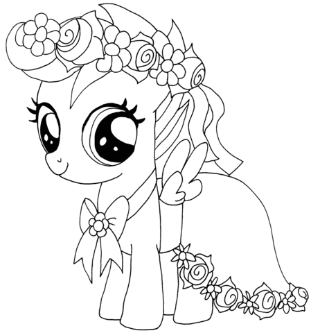 Coloriage My Little Pony Scootaloo Coloriages à Imprimer Gratuits