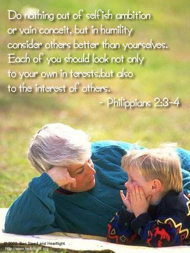 Inspirational illustration of Philippians 2:3-4