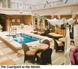 Courtyard at the Haven
