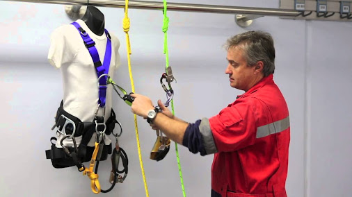 Proposed fall protection method for rope access